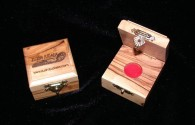 Ancient Coins - Israel Olive Wood Presentation box - 19mm hole red felt pad