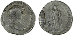 Ancient Coins - Trajan AR Tridrachm of Caesarea, Cappadocia also attributed to Bostra, Arabia, AVF