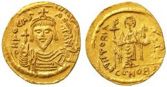 Ancient Coins - Phocas Byzantine AV Gold Soldius, Near Mint State, 607 - 610 C.E.