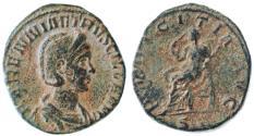 Ancient Coins - Herennia Etruscilla AE Sestertius, VF, 249 - 251 C.E.
