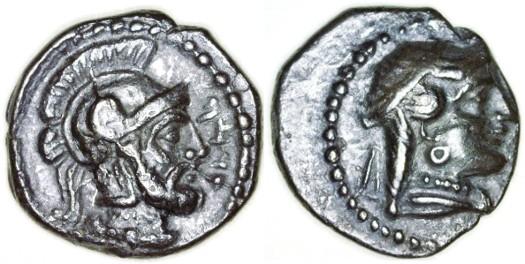 Ancient Coins - Tarsos, Cilicia AR Obol, Choice AEF, 4th Century B.C.E.
