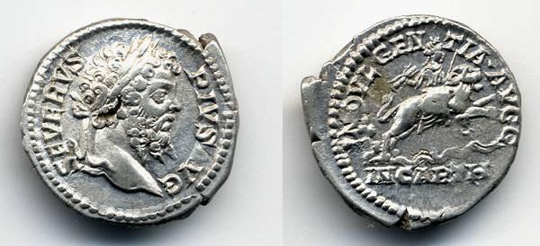 """Ancient Coins - Septimius Severus, EF, """"Indulgentia"""""""