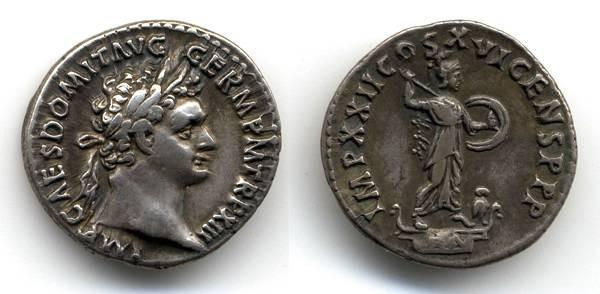 Ancient Coins - Domitian AR Denarius, CHOICE Specimen
