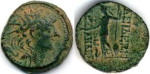 Ancient Coins - Alexander II Zebinas AE, VF+/VF, loverly patina, 128 - 123 B.C.E.