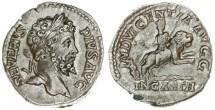 Ancient Coins - Septimius Severus AR Denarius, EF/AEF, Dea Caelestis riding on a lion, 202 - 210 C.E.