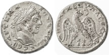 Ancient Coins - Akko-Ptolemais, Caracalla AR Tetradrachm, AEF/VF+, 215 - 217 C.E.