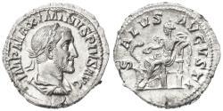 Ancient Coins - Maximinus I Thrax AR Denarius, Choice Extremely Fine, Circa. 236 C.E.