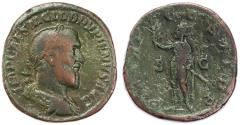 Ancient Coins - Pupienus AE Sestertius, Near VF, 238 C.E.