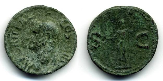Ancient Coins - Agrippa AE AS, F+/F