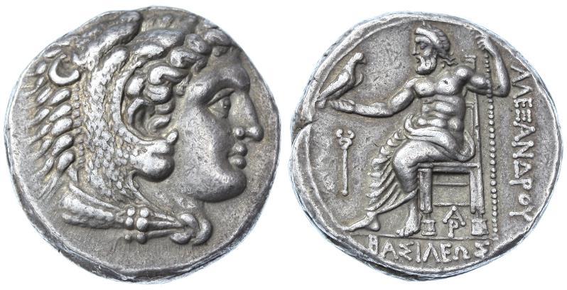 Ancient Coins - Alexander III the Great AR Tetradrachm, Near EF, Arados Mint, Lovely style, 324 -320 B.C.E.