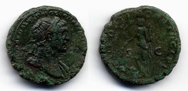 Ancient Coins - Trajan AE AS, AVF