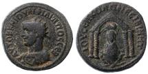 Ancient Coins - Nisibis, Mesopotamia, Philip I AE, F+/VF, 244 - 249 C.E.