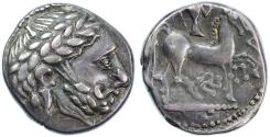 Ancient Coins - Celtic, Eastern Europe AR Tetradrachm, Imitative of Philip II, VF+,  2nd Century B.C.E.