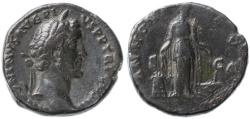 Ancient Coins - Antoninus Pius AE AS, Very Fine, 140 - 144 C.E.