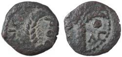 Ancient Coins - Coponius Prefect under Augustus AE Prutah, Good Fine, Clear date, 5/6 C.E.