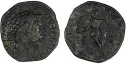 """Ancient Coins - Marcus Aurelius Sestertius, VF, """"Roma"""", 174 C.E."""