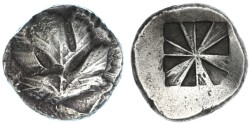 Ancient Coins - Selinus, Sicily AR Didrachm (Stater), Very Fine, 540 - 510 B.C.E.