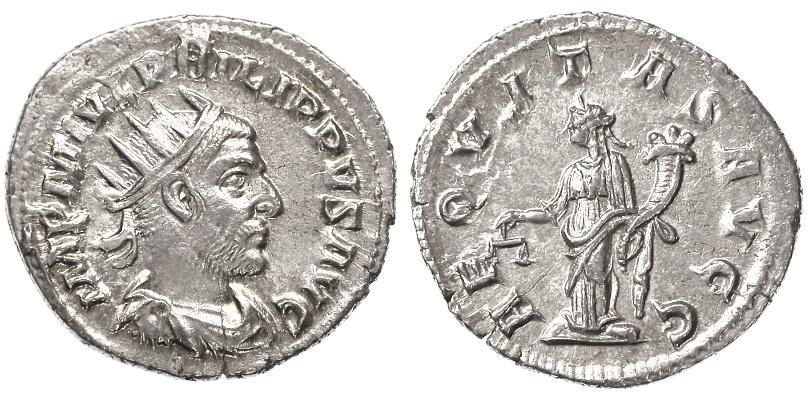 Ancient Coins - Philip I the Arab AR Antoninianus, Choice EF,  247 C.E.