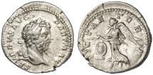 """Ancient Coins - Septimius Severus AR Denarius, Very Fine,  """"Vict Aetern"""", 200/201 C.E."""