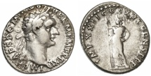 Ancient Coins - Domitian AR Denarius, Very Fine, 92/93 C.E.