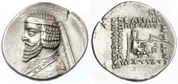 Ancient Coins - Phraates III AR Drachm, Near EF, Remarkable Style & Pedigreed!, 70 - 57 B.C.E.