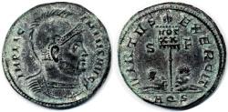 Ancient Coins - Licinius I AE Follis, RARE EF, Aquileia Mint, 320 C.E.