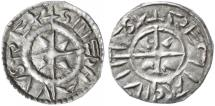 "Ancient Coins - Stephan I - St. Stephen 1st King of Hungary AR Denar, EF, ""Holy Hand"" Christian reference coin, 997 - 1038 C.E."