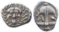 Ancient Coins - Apollonia Pontika AR Drachm, Very Fine, 480/78 - 450 B.C.E.