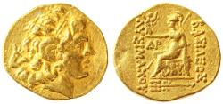 Mithradates VI Eupator in the name of Lysimachos AV Gold Stater, Very Fine, 120 - 63 B.C.E.
