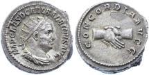 Ancient Coins - Balbinus AR Antoninianus, Toned AEF, Pedigreed, 238 C.E.