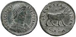 Ancient Coins - Julian II Double Maiorina AE1, Very Fine+, Cyzicus Mint, 360 - 363 C.E.