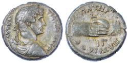Ancient Coins - Hadrian, Alexandria Billon Tetradrachm, Near EF/EF, Stunning patina, 128/129 C.E.