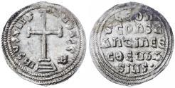 Ancient Coins - Leo IV the Khazar with Constantine VI AR Miliaresion, Extremely Fine, 775 - 780 C.E.