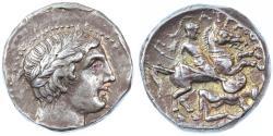 Ancient Coins - Patraos, Kingdom of Paeonia AR Tetradrachm, Toned Very Fine, 335 - 315 B.C.E.
