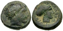 Ancient Coins - Thessaly, Phallana, SCARCE, AVF/VF, 4th Century B.C.E., sharp reverse with  inscription