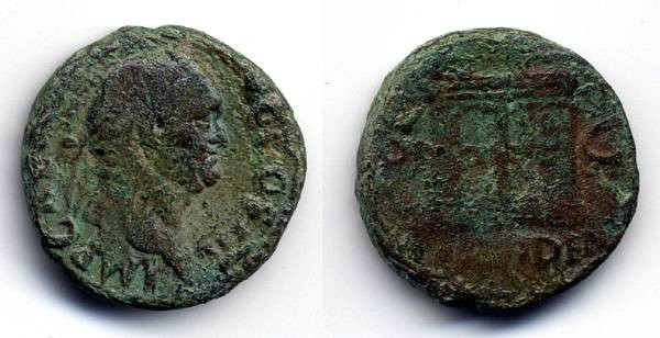 "Ancient Coins - Vespasian AE AS, F+/F, ""Providen"", Structural type"