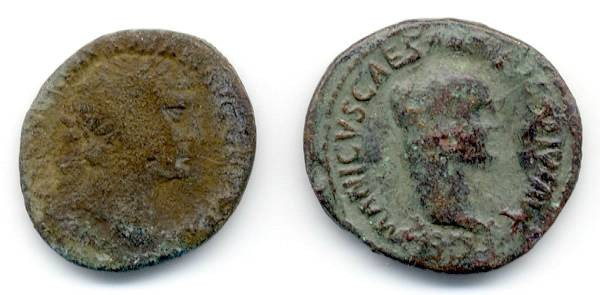 Ancient Coins - Lot of 2 Imperial AE, Gemanicus and Trajan., GREAT value