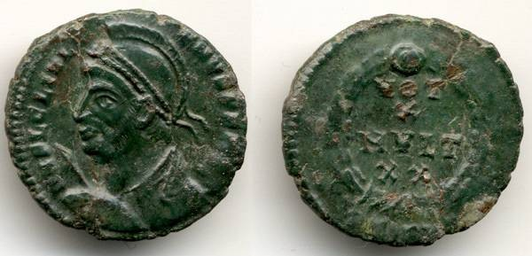 Ancient Coins - Julian II the Apostate, VF+/VF, AE 20, Nummus, 360 - 363 C.E.