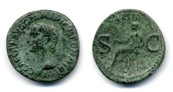 "Ancient Coins - Caligula, AS ""Vesta"""