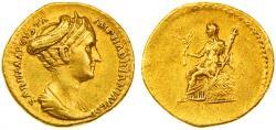 Sabina Augusta AV Gold Aureus, Very Fine, VERY RARE and Fine Style! 128 - 136 C.E.