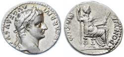"""Ancient Coins - Tiberius AR Denarius, """"Tribute Penny"""", EF/AEF, 14 - 37 C.E."""