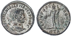 Ancient Coins - Diocletian Silvered Follis, EF, Heraclea Mint, 297/298 C.E.