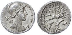 Ancient Coins - P. Fonteius P. f. Capito AR Denarius, Choice EF, Pedigreed, Circa. 55 B.C.E.