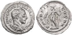 Ancient Coins - Severus Alexander AR Denarius, Extremely Fine, Circa. 223 C.E.