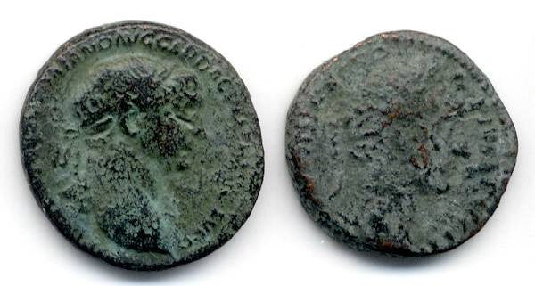 Ancient Coins - Lot of Two Imperial AE, Trajan and Antoninus Pius, GREAT value