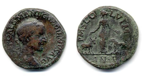 Ancient Coins - Gordian, Moesia Superior, Viminacium - LARGE flan
