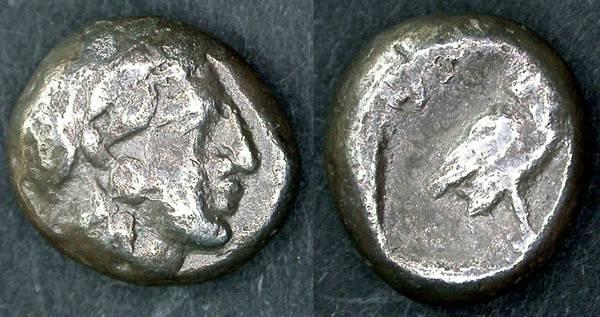 Ancient Coins - Gaza RARE Drachm, 5th - 4th Century B.C.E., VF