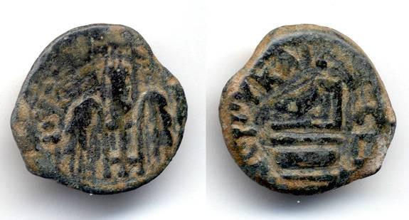 Ancient Coins - Pontius Pilate Prefect under Tiberius, Nice VF, Simpulum
