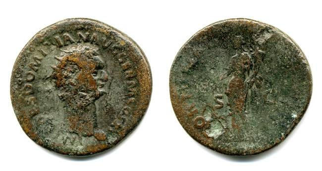 Ancient Coins - Domitian Dupondius