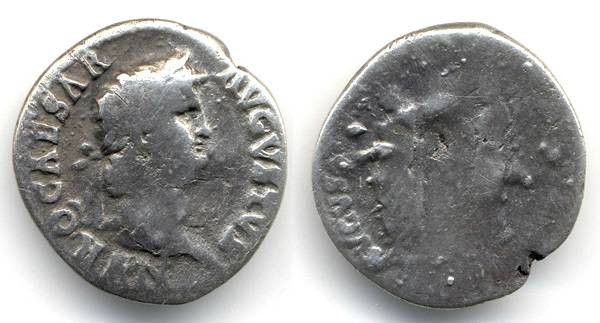 Ancient Coins - Nero and Poppaea RARE AR Denarius
